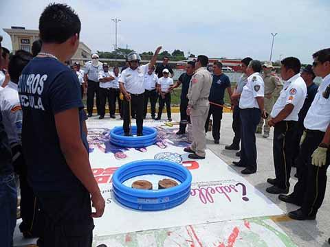Bomberos Realizo Simulacro de Descontaminación de Químicos