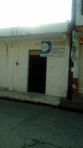 Inoperante Agencia de MP en Acapetahua