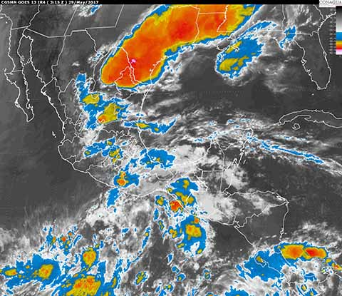Continuarán Tormentas Intensas en Sureste Mexicano