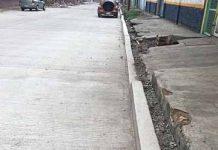 Calle Recién Construida Presenta Desperfectos