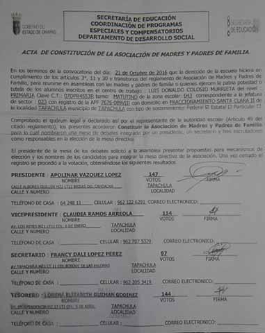 """Se Confrontan Padres y Maestros de la Primaria """"Luis Donaldo Colosio"""""""