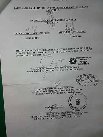 """Solicitan Crear la Universidad del Café en el Ejido """"El Edén"""""""