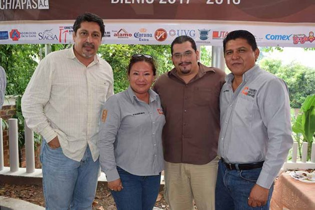Guillermo Ordaz, Luisa Zamora, Enrique Cárdenas, Orlando Méndez.