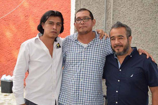 Francisco Camposeco, Samy López, Hernán Betanzos.