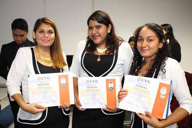 Karen Sacre, Diana Duarte, Ruth Marroquín.