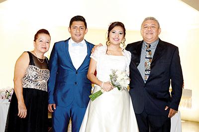 Ruth de Rojas, Luis Alberto, Marilí, Blas Rojas.