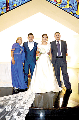 Rosa Arriaga, Luis Alberto, Marilí, Pedro Monzón.