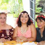 Leonora Fernández, Flor Villarreal, Martha Ramos.