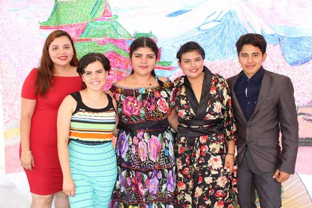 Brigida Ruiz, Helen Guzmán, Tania Luna, Tania Argüello.