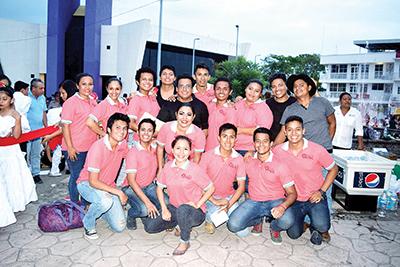 Gran participación de los alumnos del CUFA, tanto en la logística del festival como en sus interpretaciones.