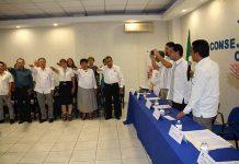 Carlos Calderón, Subdelegado Federal de la Secretaría de Economía tomó protesta al nuevo Consejo Directivo 2017-2018 de CANACO Tapachula.