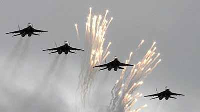Intercepta EU a Bombarderos y Cazas Rusos
