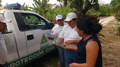 Protección Civil Mantiene Monitoreo por Lluvias en Chiapas