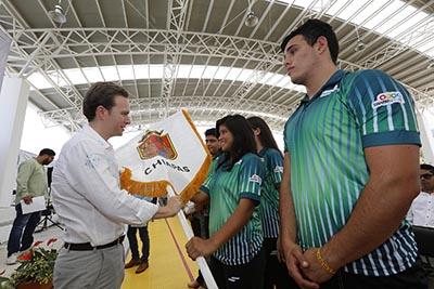 La delegación chiapaneca, que cuenta con 320 atletas, entrenadores, médicos y juece, participará en la Olimpiada, Paralimpiada y Campeonato Nacional Juvenil 2017.