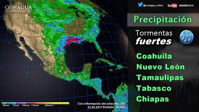 Continuarán las Lluvias Torrenciales en Chiapas