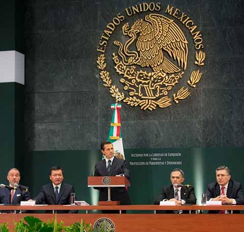 Peña Nieto Presenta Plan Para Protección de Periodistas