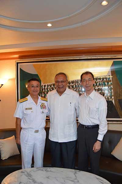 Fuerza Marítima de Japón Arriba a Puerto Chiapas