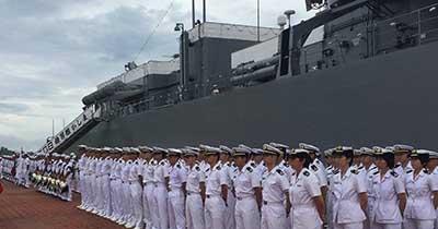 Buques Escuela Naval de Japón Arribaron a Puerto Chiapas
