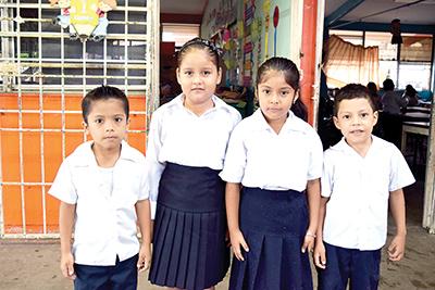 Rony Godínez, Rubí García, Keyla García, Rayner Ortiz.