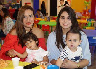 Mirza de Oseguera, Amanda Oseguera, Cristy de Sandoval, Sergio Sandoval.