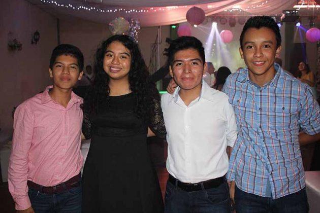 Josué Benítez, Alejandra Solís, Eduardo Alexander, Andrés Eduardo.