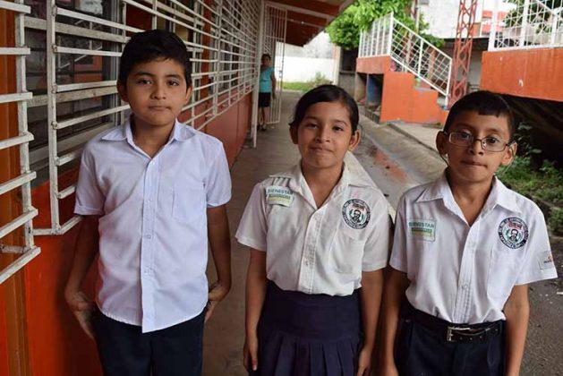Emmanuel Ovando, Luz Argueta, Kevin Vázquez.