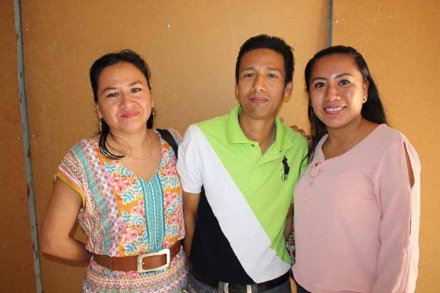 Sandra Gallardo, Eber Méndez, Yuritzi Chang.