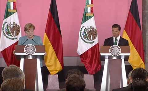 Ofrece Merkel Ayuda de Alemania a México Para Combatir al Crimen