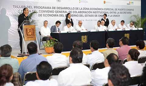 Inaugura ERA Taller del Programa de Desarrollo de la ZEE de Puerto Chiapas