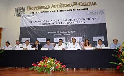 Celebran en la UNACH la VI Jornada Estatal de la Salud, Prevención y Seguridad en el Trabajo 2017
