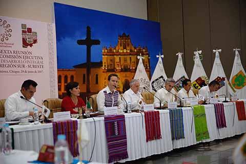 En el evento realizado en la capital del Estado, coinciden Gobernadores en restablecimiento del Fondo Sur Sureste en el ramo 23 y el Programa de Egresos de la Federación 2018.