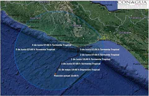 Ciclón Tropical no Afectará Directamente a Chiapas: PC