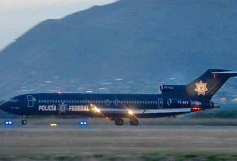 Un avión Boeing 727 propiedad de la Policía Federal, arribó éste viernes al Aeropuerto Internacional de Tapachula con 20 reos de alta peligrosidad, provenientes de Ciudad Victoria, Tamaulipas, siendo trasladados al CEFERESO 15 de Villa Comaltitlán.