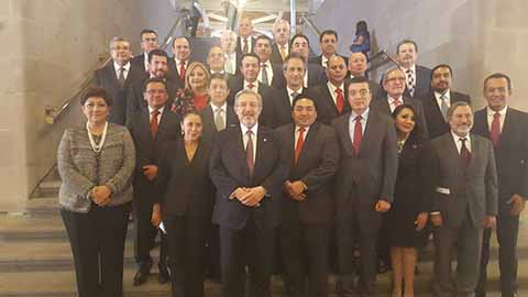 Acompaña Rutilio a Ministro Luis María Aguilar en SCJN