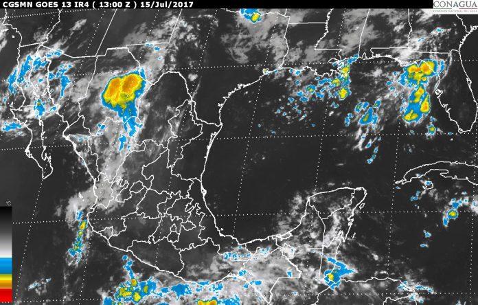 Prevén Tormentas Fuertes en el Sureste Mexicano