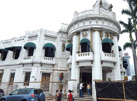 Agilizan Trabajos de Restauración en el Antigüo Palacio Municipal