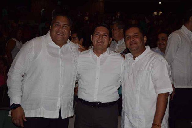 Neftali del Toro, Enrique Zamora Morlet, Rubén Peñaloza.