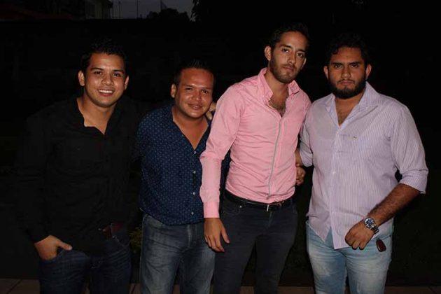 Andrés Guerra, Gerardo Fuentes, Alberto Radbruch, Aldo Camacho.