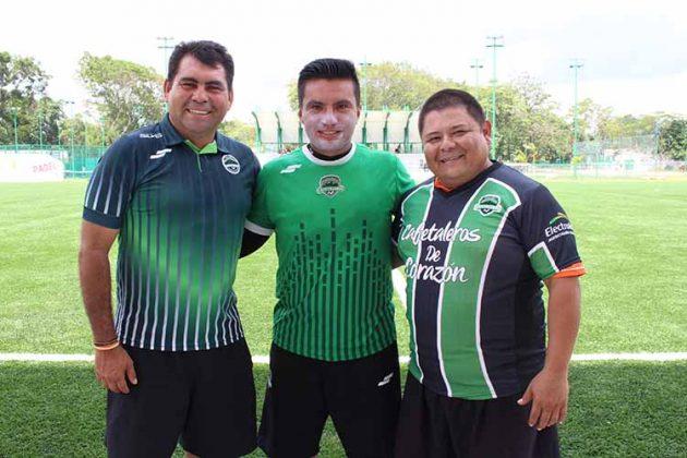 Sergio Rizo, director técnico; José Carlos Ocaña, preparador físico; Enrique Ramos, terapeuta.