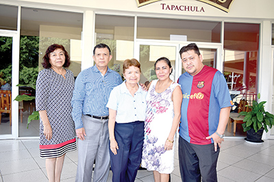 Blanca López, Bertha Santizo, Rafael Santizo, Conchy Hernández, Jesús Almeida.