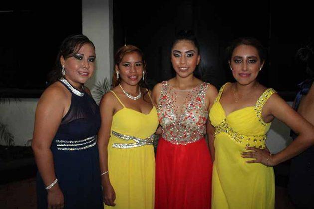 Itzayana Martínez, Xiomara Maldonado, Jessica Hernández, Ivonne Rodríguez.