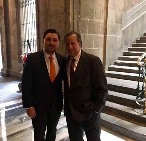 Se Reúnen Fernando Castellanos yJosé Antonio Meade en Palacio Nacional