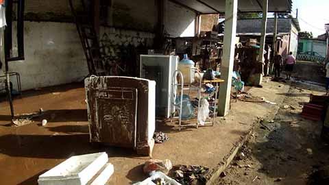 Contabilizan 47 Casas Dañadas por Inundaciones en Huixtla