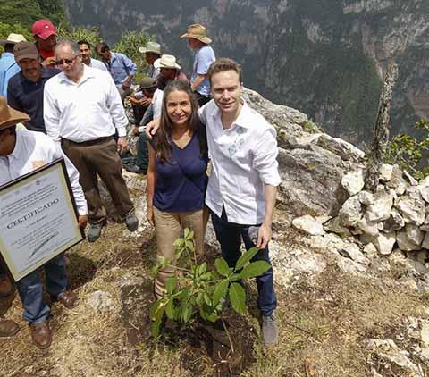 Manuel Velasco, Julia Carabias y Alejandro del Mazo realizaron la siembra de árboles como parte de las acciones de conservación; además entregaron recursos a habitantes que se sumaron a la reforestación de esta maravilla natural.