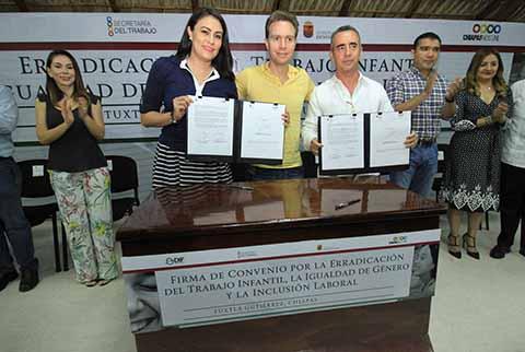 DIF y Secretaría del Trabajo Firman Convenio Para Combatir el Trabajo Infantil en Chiapas