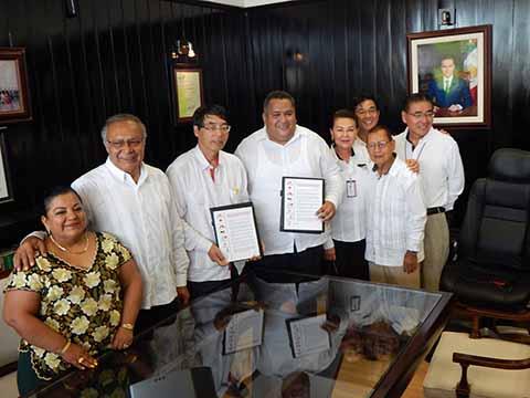 Firman Convenio CANACO y Secretaría de la Frontera Sur