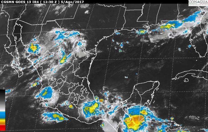 Pronostican Tormentas en el Sureste del País por la Onda Tropical No. 23