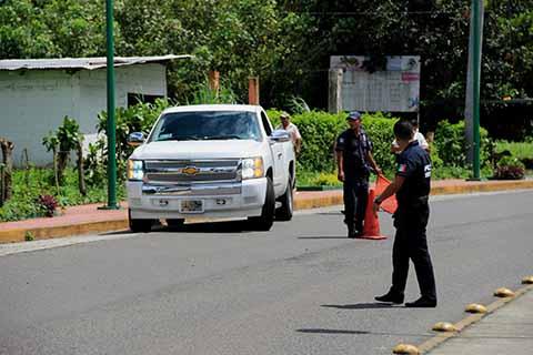 Refuerzan Autoridades de los Tres Niveles la Seguridad en Cacahoatán