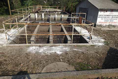A Base de Presiones Lograron Rehabilitación de Planta de Aguas Residuales en Tuxtla Chico