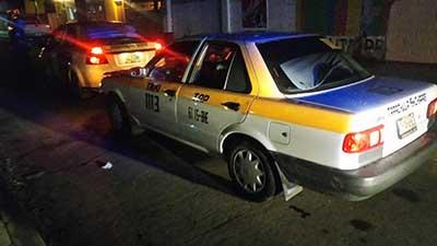 Taxistas Chocaron por Alcance